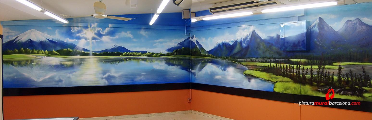 Mural paisaje bar a queimada spain 2007 copyright - Murales de pared pintados a mano ...