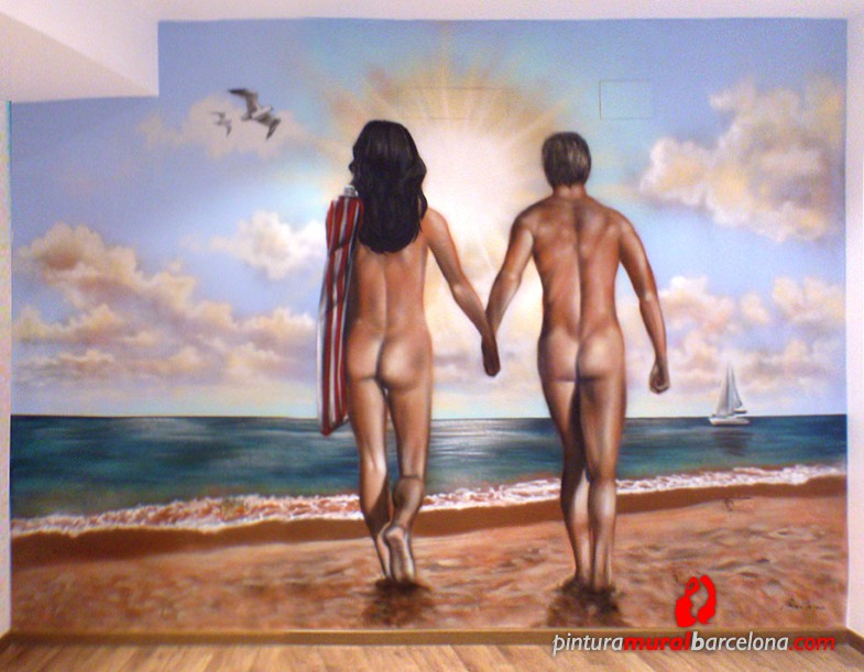 playa-desnudos-habitacion-graffiti