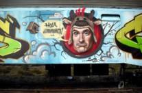 "GRAFFITI TREN ""PETADOS CREW"" – Lommel (Belgium). ©2013 [Spray]"