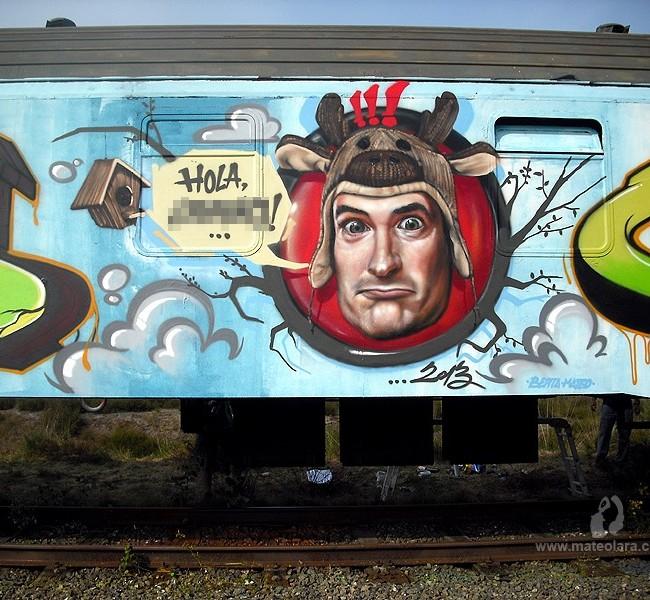 GRAFFITI TREN «PETADOS CREW» – Lommel (Belgium). ©2013 [Spray]