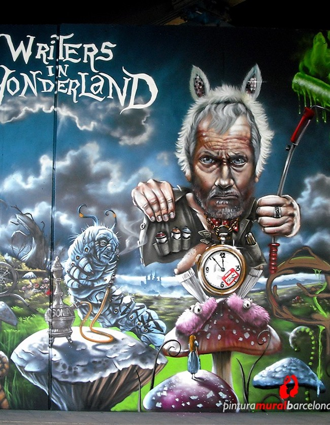 MURAL GRAFFITI «WONDERLAND» – Bocholt (Belgium). ©2013 [Spray]