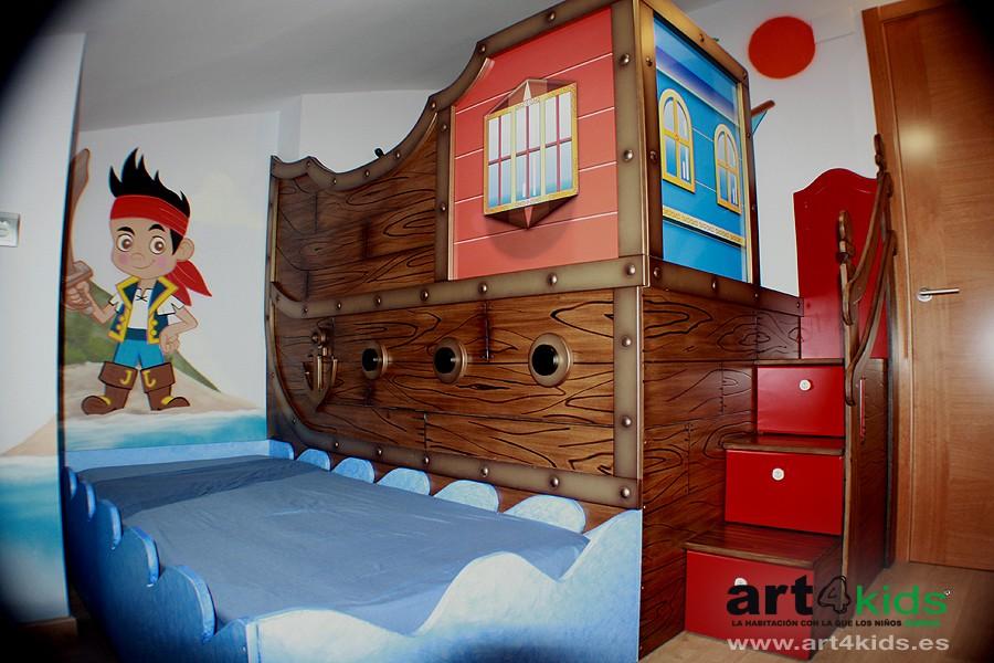 Jake y los piratas habitaci n infantil 2013 pintura for Yei y los piratas de nunca jamas