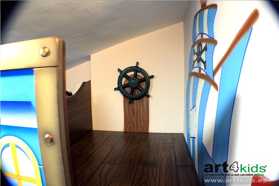 timon-pirata-habitacion-infantil-cama-graffiti