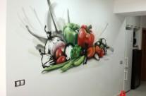 MURAL BODEGÓN ARTÍSTICO EN COCINA, Mataró 2013 [Spray]