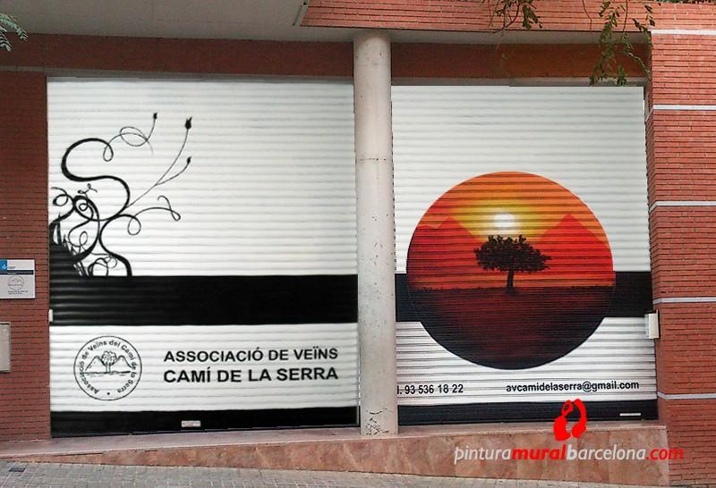 Persiana AAVV CAMÍ DE LA SERRA – Mataró (Spain) ©2013 [Spray]
