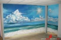 """MURAL GRAFFITI PLAYA """"TRAMPANTOJO"""" EN APARTAMENTO, Miami Platja ©2013 [Spray]"""