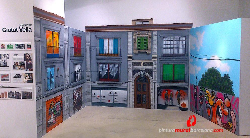 MURAL GRAFFITI «TRAMPANTOJO» FACHADA DE BARCELONA, Barcelona ©2013 [Spray]