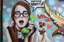 """THEY ARE PAINTING GRAFFITI!! WTF?!"" – Rubí. ©2014 [Spray]"