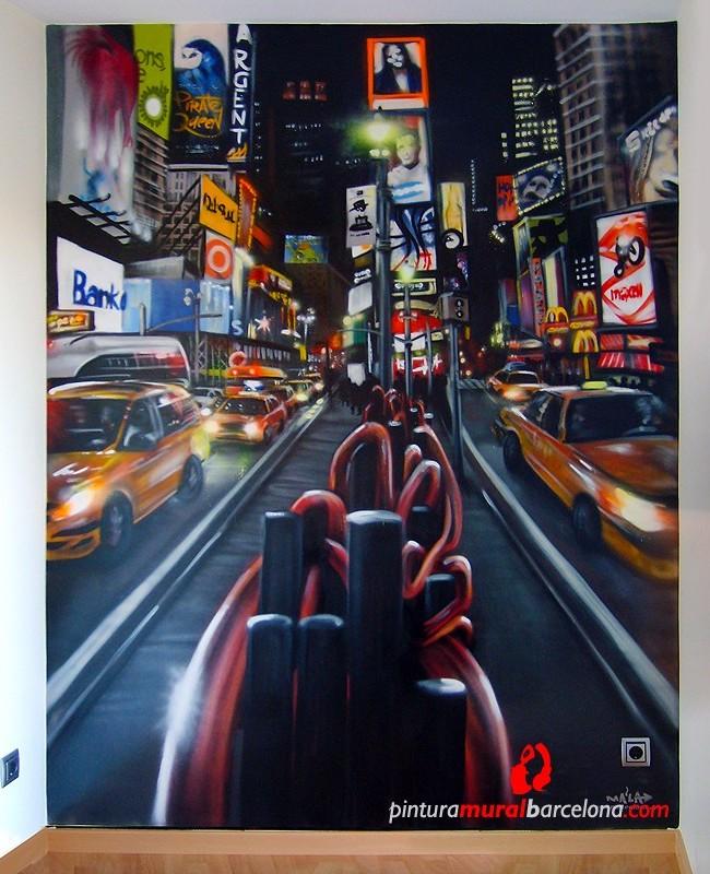 MURAL GRAFFITI TIMES SQUARE NEW YORK, ©2007 [Spray]