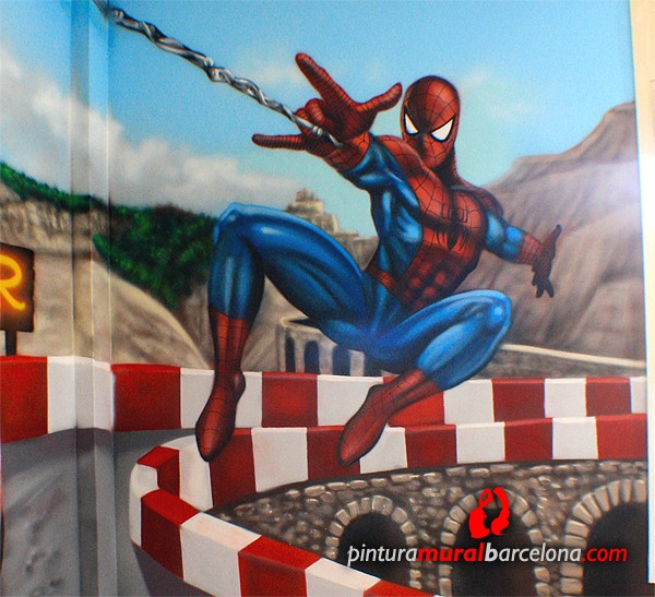 mural-infantil-spiderman