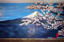 "MURAL GRAFFITI PAISAJE ""MONTE FUJI"" ©2014 [Spray]"