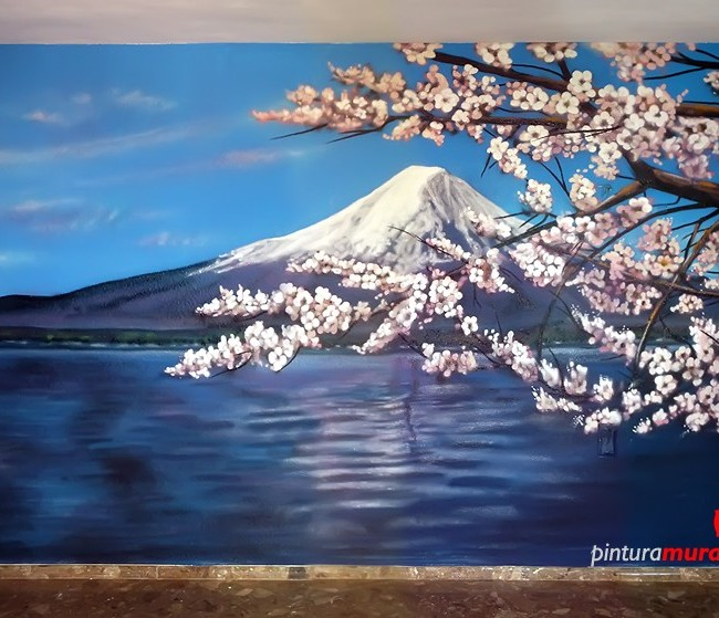 MURAL GRAFFITI PAISAJE «MONTE FUJI» ©2014 [Spray]