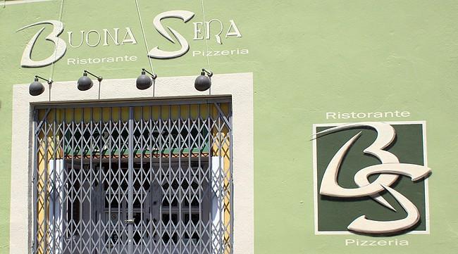 logotipo-buona-sera-mural-pintado-fachada-restaurante