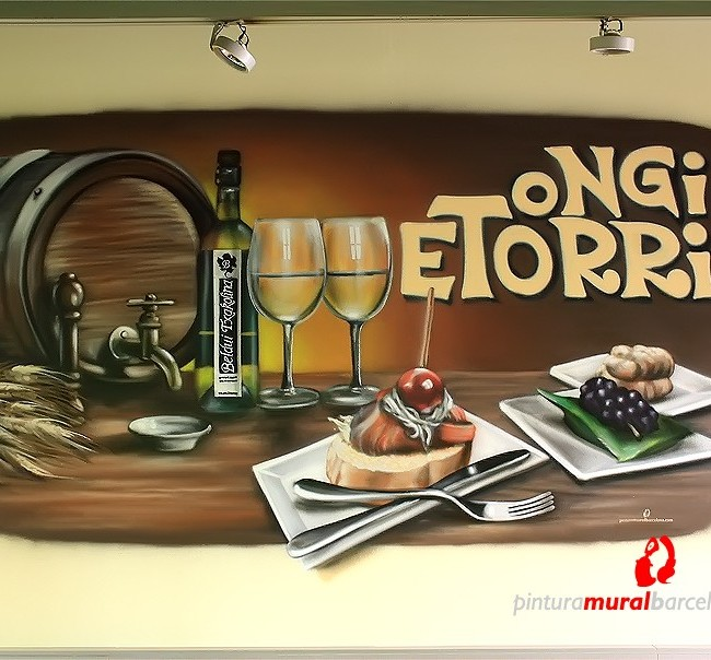 MURAL GRAFFITI EN TABERNA VASCA