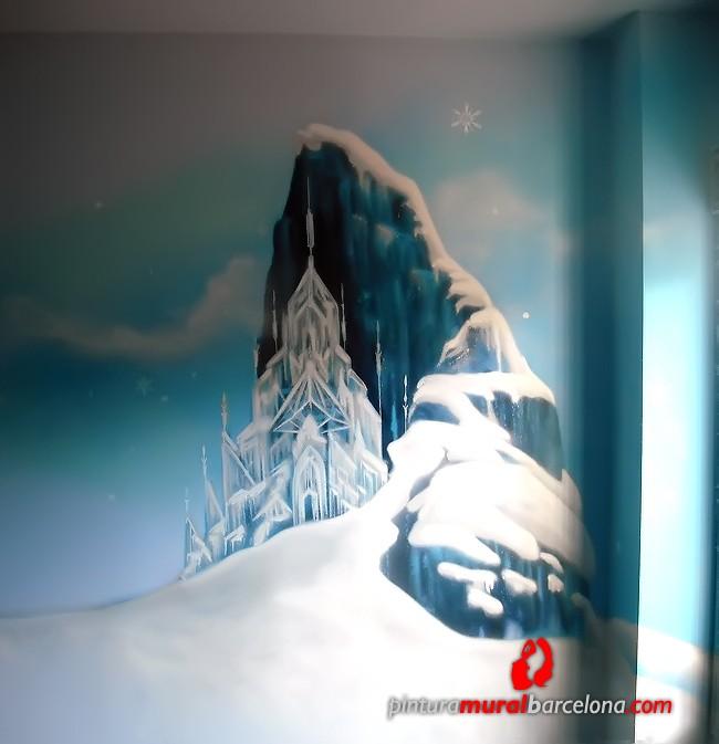 mural-graffiti-habitacion-castillo-frozen