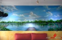 MURAL GRAFFITI PAISAJE LAGO