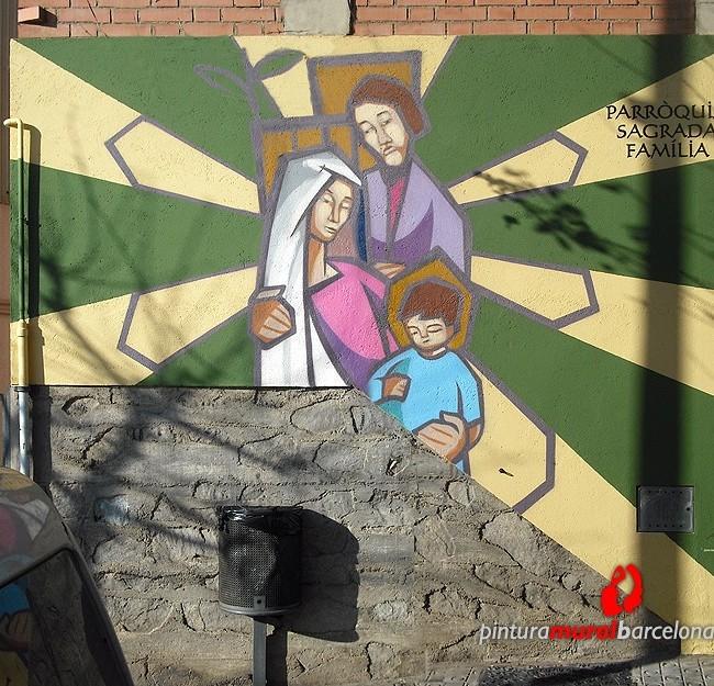 MURAL GRAFFITI EN FACHADA DE IGLESIA PARROQUIA