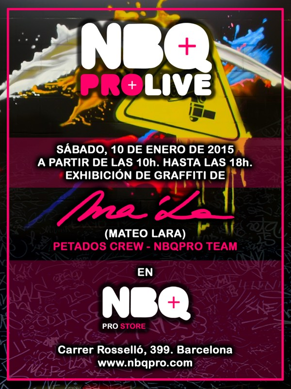 10.01.15 – Exhibición Graffiti «NBQ PROLIVE» Barcelona