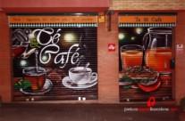 Persiana graffiti Cafetería