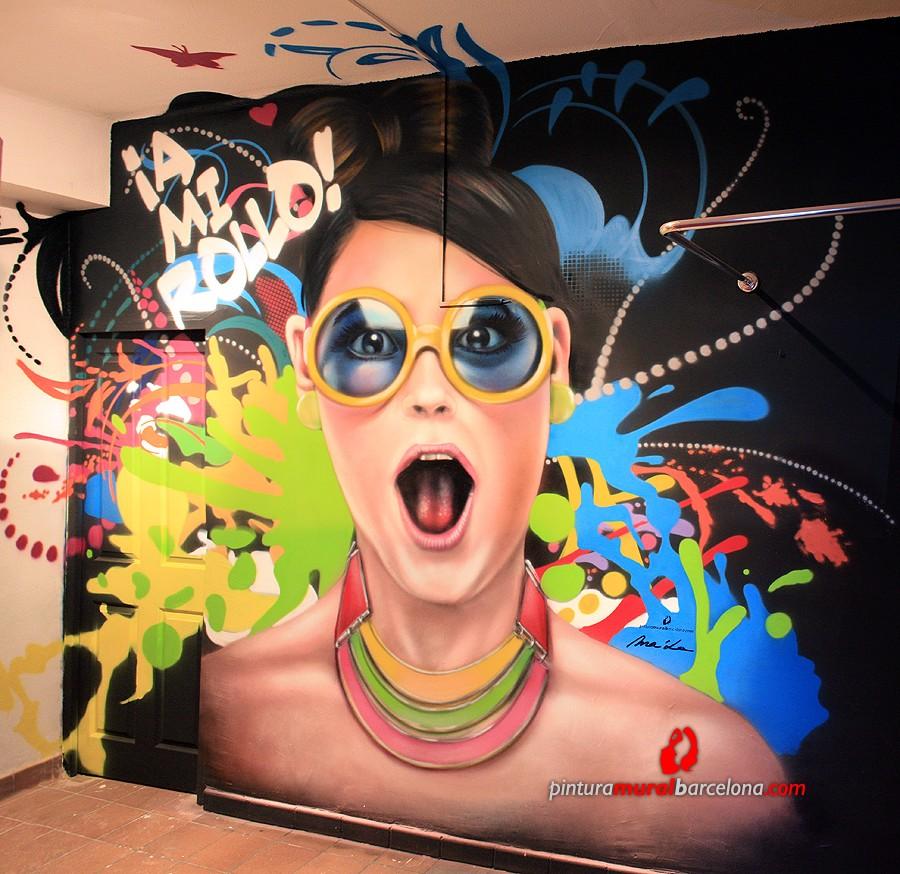 Mural graffiti realista moderno en tienda pintura mural for Mural graffiti