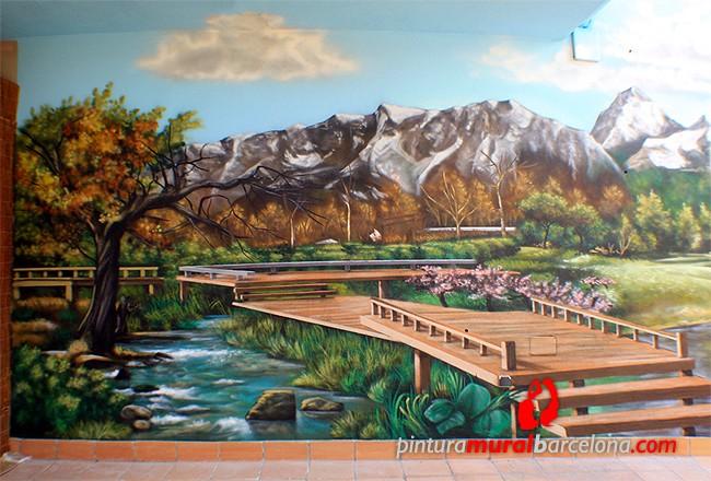 Paisajes 3d murales pintados que transformar n tus for Murales en 3d para salas