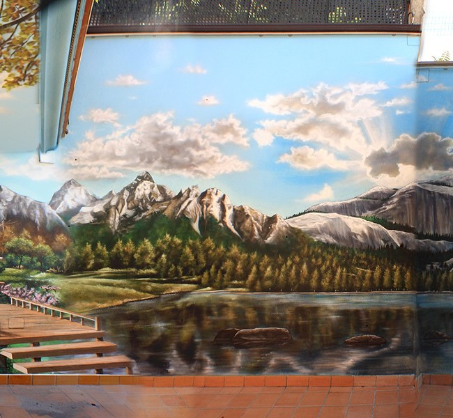 MURAL GRAFFITI PAISAJE PATIO