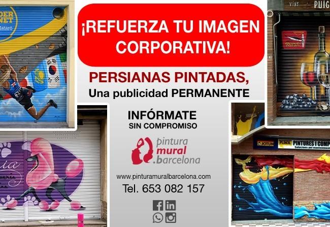 PERSIANAS PINTADAS, una publicidad permanente