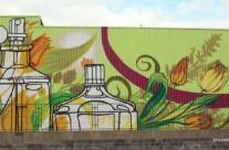 Mural corporativo fachada industrial EUROFRAGANCE