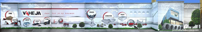 Mural corporativo nave industrial VAHEJA