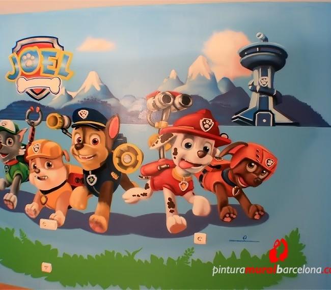 Mural patrulla canina graffiti pintura mural barcelona - Pintura mural barcelona ...
