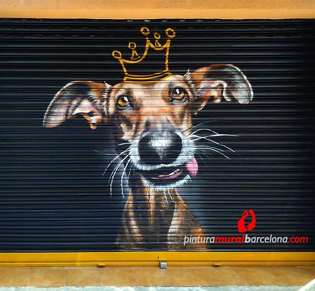 Persianas pintadas con perro para ANIMAL KING