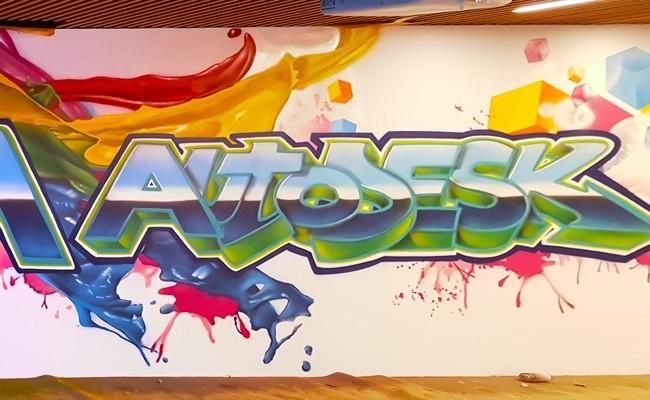 Mural oficina Autodesk