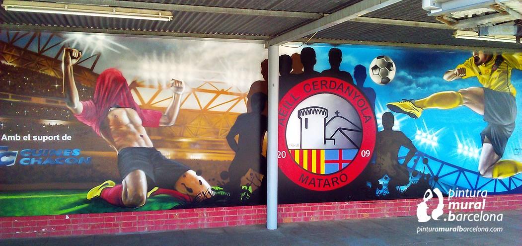 graffiti-de-fútbol-mural-deporte-equipo