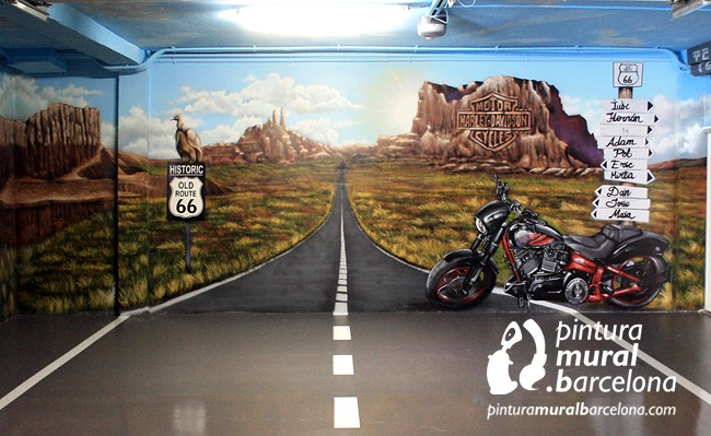 mural-graffiti-harley-davidson-garaje
