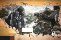 MURAL GRAFFITI KINGKONG
