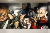GRAFFITI PELÍCULAS DE TERROR EN BAR TEMÁTICO