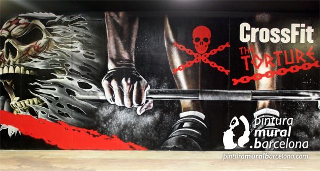 mural-graffiti-box-cossfit-calavera