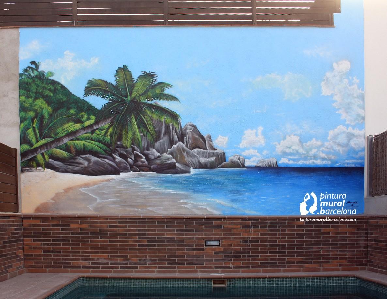 mural-playa-3d-palmeras-piscina-graffiti