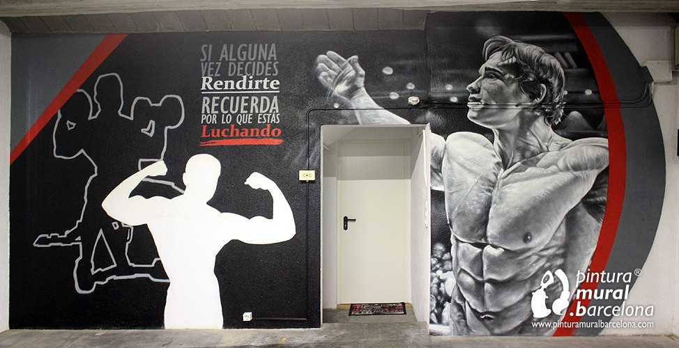 GRAFFITI GIMNASIO DECORADO