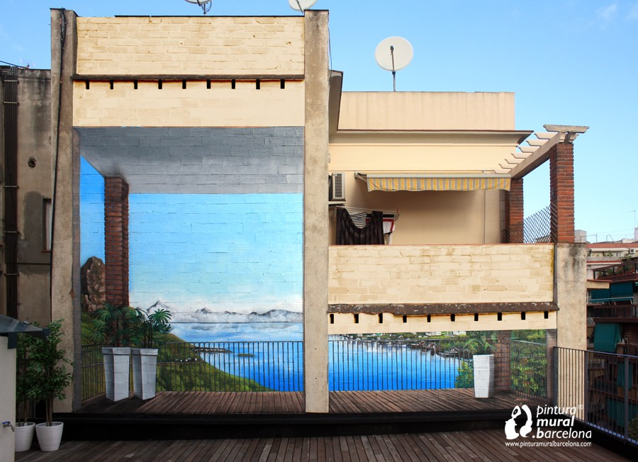 Mural 3D trampantojo en medianera