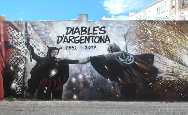 MURAL DIABLES D'ARGENTONA GRAFFITI