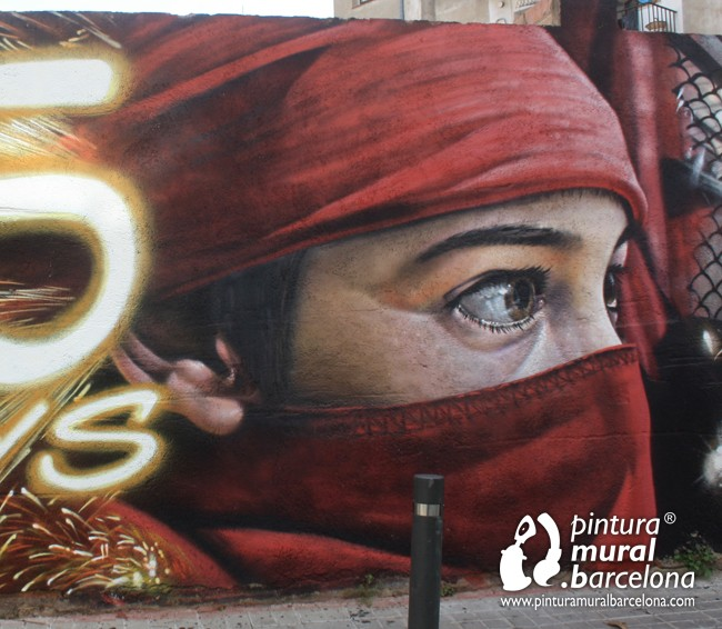 Mural diables d 39 argentona graffiti pintura mural - Pintura mural barcelona ...
