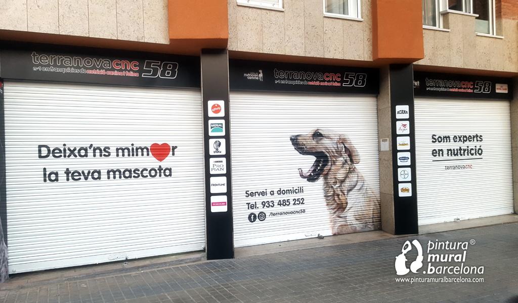 persiana-pintada-graffiti-perro-terranova-tienda
