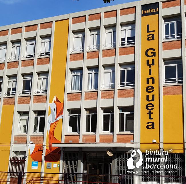 fachada-pintada-instituto-la-guineueta