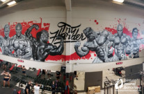 MURAL GRAFFITI GYM BODYBUILDING