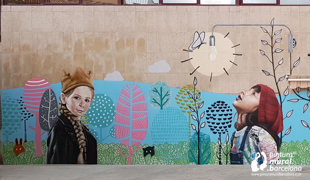 MURAL GRAFFITI FACHADA KIDS&US MARTORELL