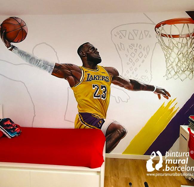 MURAL GRAFFITI LEBRON JAMES NBA