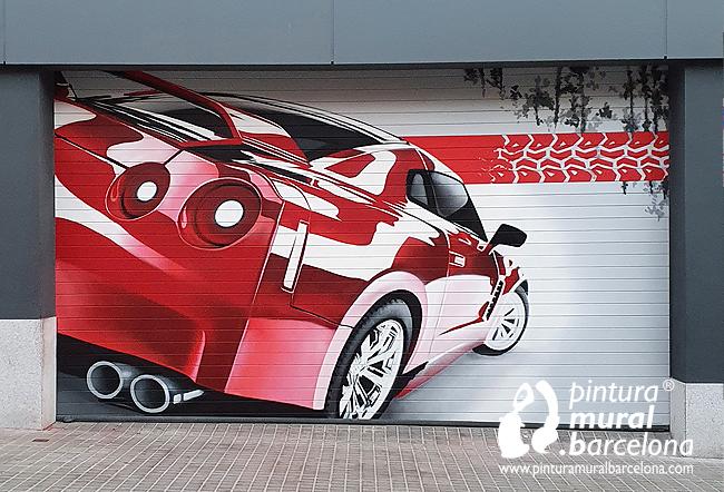 persianas-pintadas-taller-mecánico-coche-deportivo