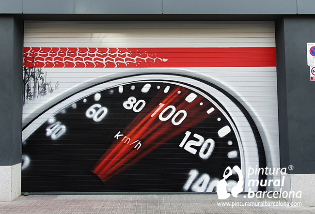 persianas-pintadas-taller-mecánico-cuentakilómetros-velocidad
