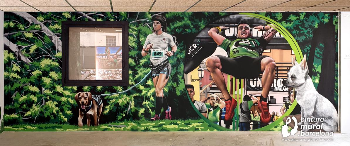 mural-graffiti-canicross-entrenamiento-racers-perros